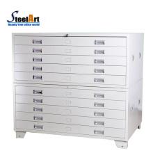 Armário de armazenamento de metal de bloqueio armário de mapa de tamanho A0