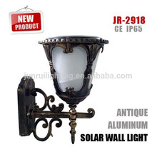 Lámpara de pared solar al aire libre recargable led solar, led lámpara de pared al aire libre
