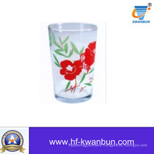 Glass Tea Cup with Decal Printing Glass Cup Glassware Kb-Hn0738