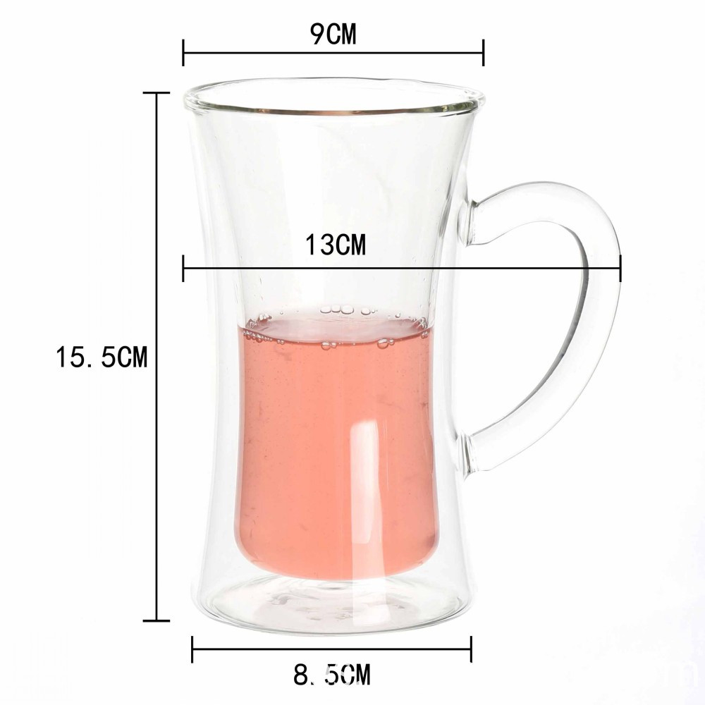 Tall And Thin Double Wall Glass Cups