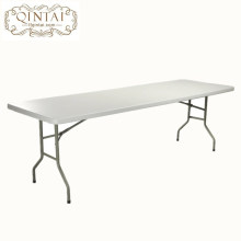 Table de salle à manger pliante en plastique rectangulaire HDPE