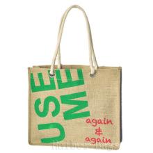 2013 nouveau sac à provisions en jute / sac fourre-tout / sac à dos (hbjh-48)