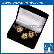 personaliza el perno, los pernos de encargo de la solapa del freemason con el chapado en oro