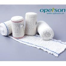 Vendaje de crepe de algodón quirúrgico con certificado Ce