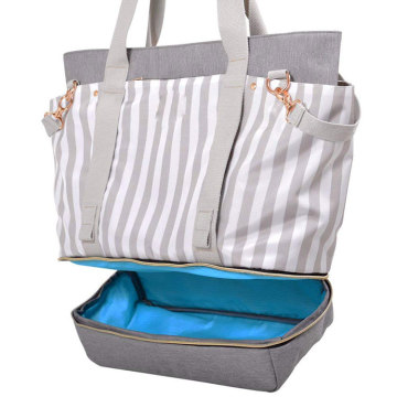 Eco Friendly Weekender Wickeltasche mit Kinderwagen Straps