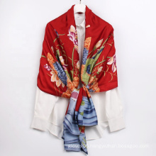 Wholesale Newest Designer Print Scarf Chinese Style Floral Pattern Silk Feeling Summer Scarves