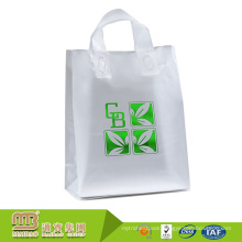 Biodegradable material eco-friendly heavy duty durable clear plastic bags with logo