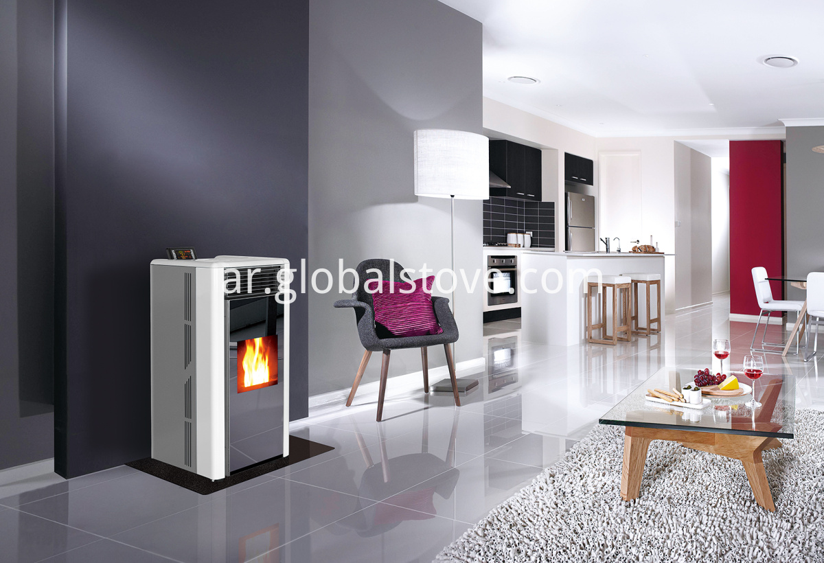 Freestanding wood fireplace
