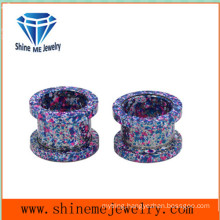 Fashion Pulley Baking Hollow Stainless Steel Ear Plug