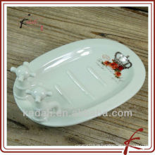 Бытовая оптовая фарфора керамические мыльница мыльница держатель