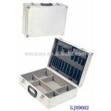 Caixa de ferramenta de alumínio quadrado prata