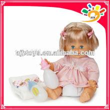Babi Mädchen-Puppe-Baby-Puppe, die Puppe-Baby-Puppe mit Flasche scherzt Kind-Spielzeug