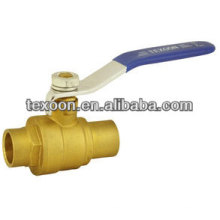 Brass ball valve 2014 hot sale sweat end no lead