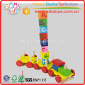 Colorful Numbers Blocks Train Toy, Math Learning Blocks Train for kids, Stacking Blocks Train for wholesale