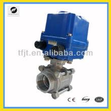 CTF-010 Stainless Steel 304 AC220V 100NM 2 'válvula de esfera do motor para tratamento de água projeto de controle automático