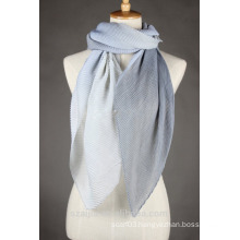 Fashion ladies polyester crinkle ombre voile long scarf