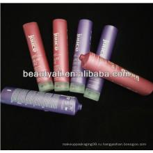 PE пластиковая косметическая трубка с перламутровым