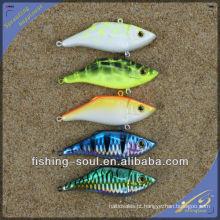 VBL008 8 cm / 10g Nova Embalagem Plástica Dura Isca De Pesca Vibração Isca De Pesca