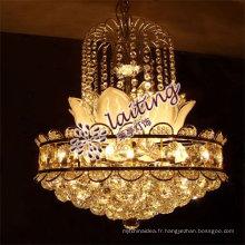 Guzhen E12 / E14 élégant petit or conduit lustre en cristal pendentif lumière pour la maison salon