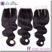 Factory wholesale price 100% virgin silk lace closure 6x6