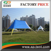 On Sale Aluminum frame blue outdoor double top star shade event tent 8x12m