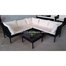 Meubles de jardin / de jardin en osier - Ensemble de canapé