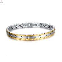 2017 meilleur mode pas cher personnalité énergie aimant bracelet de titane en acier