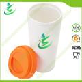 Taza de café asequible personalizada de 16 onzas con tapa