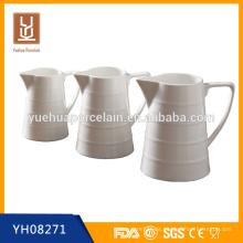 Verschiedene Größe heißer Verkauf weißer Porzellankrug / keramischer Milchkrug
