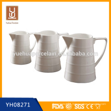 different size ceramic water milk jar with Handle