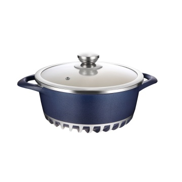 Ceramic Nonstick Stockpot w/ Glass Lid