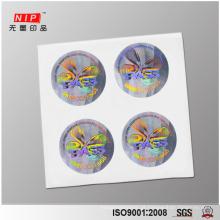 Calcadeira evidente segurança adesivos de holograma com impressão de tinta HS