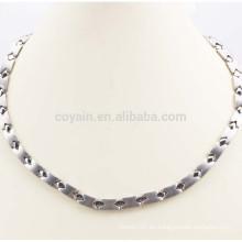 Collar de cadena de acero inoxidable personalizado para los hombres