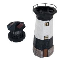 Solar Lighthouse light with Rotating Beacon for garden decoration