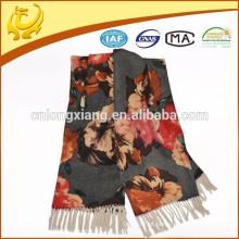2015 New Fashion Style Printed OEM Design Amostra disponível 100% Wool Pashmina Shawl Supplier