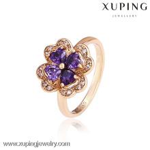 12542- Venta al por mayor de China Xuping Fashion Elegant18K Anillo de mujer de oro