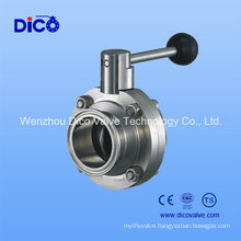 Ce Sanitary Butterfly Valve with Clamp End