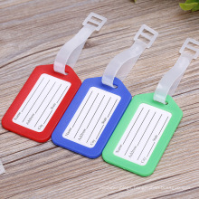 Customized Brand Name Logo Tag PVC Soft Rubber Personalized Luggage Tags