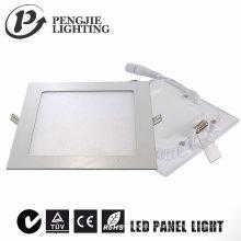 Luz de painel magro branca do diodo emissor de luz 6W (quadrado)