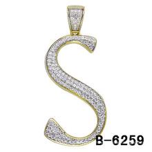 Bijoux pendentif lettre en argent sterling 925