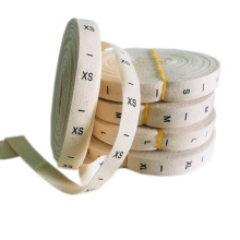 Wholesale In Stock Standard Cotton Size Labels for Clothing