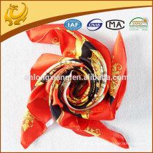 Kundenspezifisches Design gedrucktes Quadrat 100 silk Köperschals