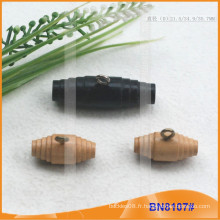 Bouton Toggle en bois naturel naturel pour vêtements BN8107