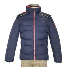 Unisex Mode Winter Erwachsene Winddicht Wasserdicht Polyester Hoody Navy Quilted Freizeit Mantel Jacke