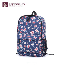 HEC Wholesale Popular Floral Pattern High School Backpack