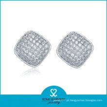 Encantador brincos de diamante novo designer