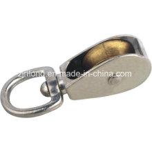 Pulsera giratoria de ojo y poleas de aleación de zinc Single Wheel Fixed