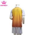 Orange Ombre Sublimated Camiseta para hombre con cuello