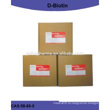 De alta calidad D-biotina / biotina (vitamina h) en polvo con USP / EP pureity99%