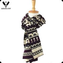 Moda costume tricô padrão acrílico lenço jacquard